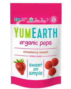 Yum Earth Organic Lollipops - Strawberry (85g, 14 Pack)
