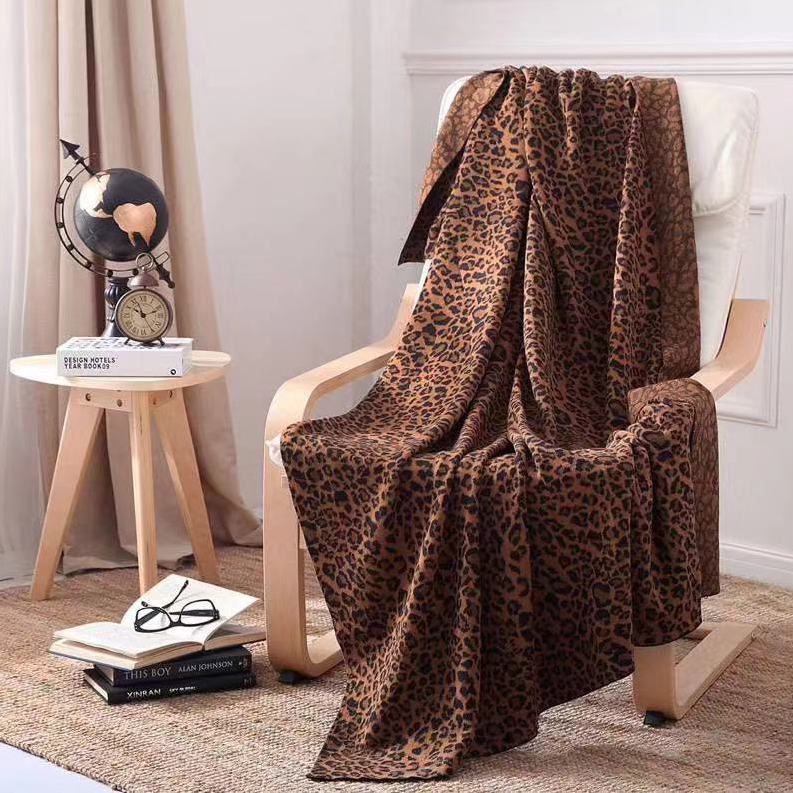 Leopard Throw Blanket - Brown