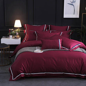 Simpel Bed Suit - Burgundy