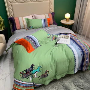 Andalusian Bed Suit - Green