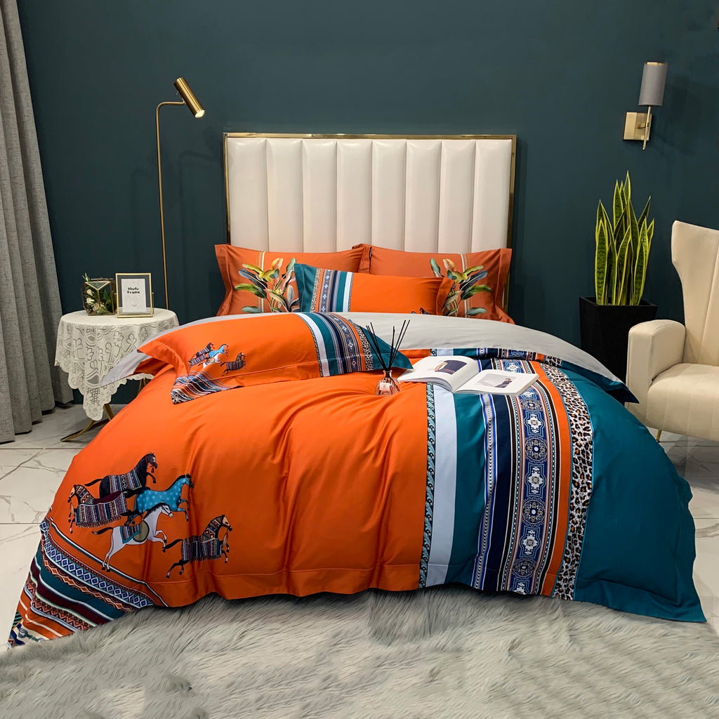 Andalusian Bed Suit - Orange
