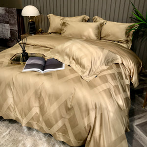 Chevron faded pattern - Gold Bed Suit