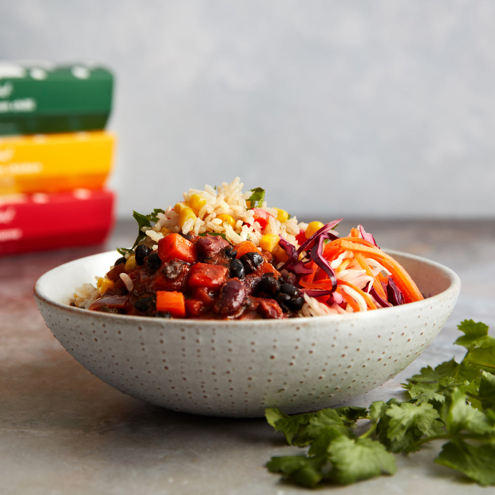 Spicy black bean chilli