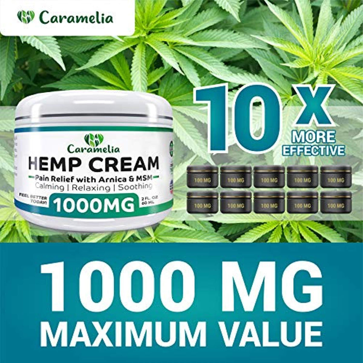 Hemp Extract Cream - 1000mg