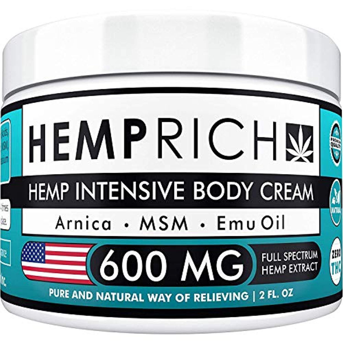 Hemp Cream for Pain Relief - 600 Mg