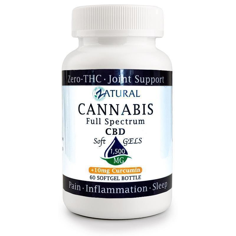 CBD Soft Gels With Curcumin - High Potency