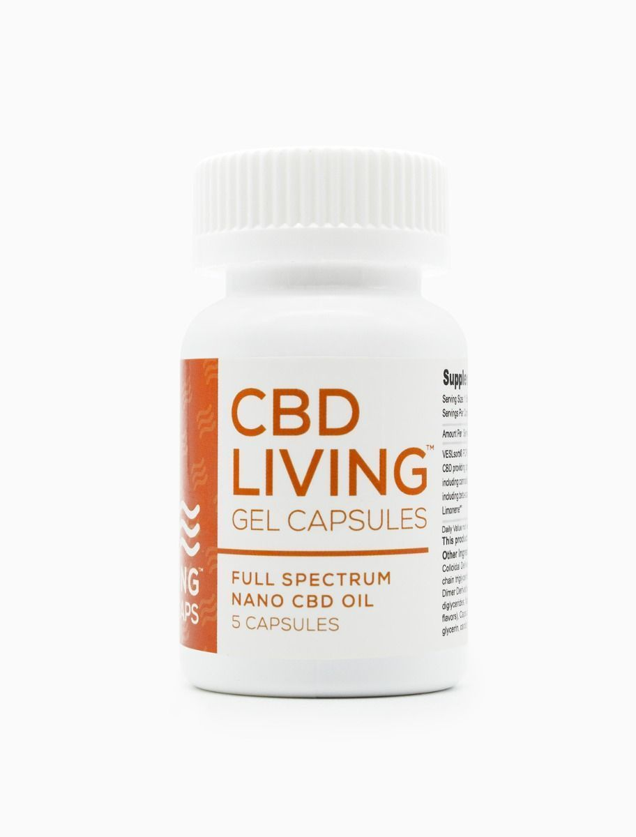 CBD Living 5 Gel Capsules