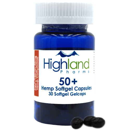 50+ – Hemp Softgel Capsules 50mg -30ct