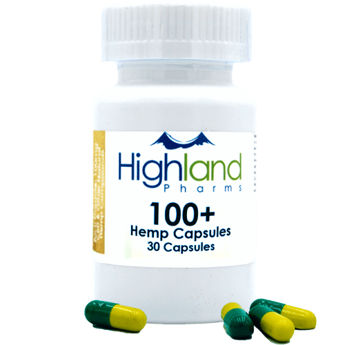 Highland Pharms 100+ – Hemp Vegan Capsules 100mg -30ct