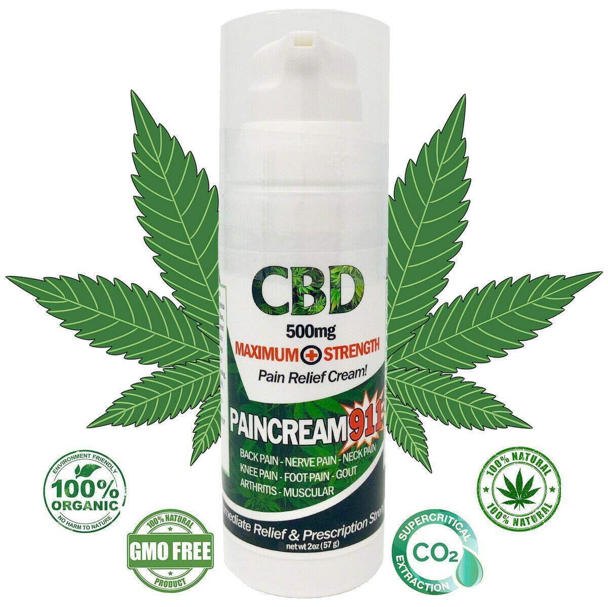 CBD TOPICAL PAIN CREAM Back, Tendinitis