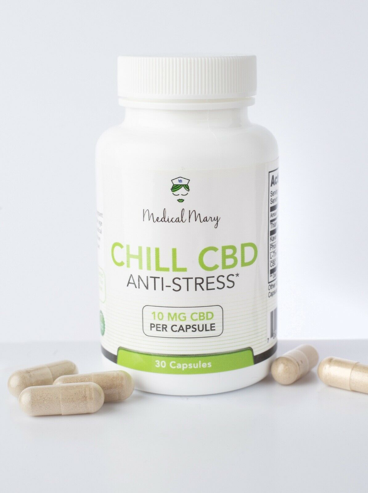 CBD Chill (Anti-Stress) 10mg/30 per bottle/ 300mg bottle
