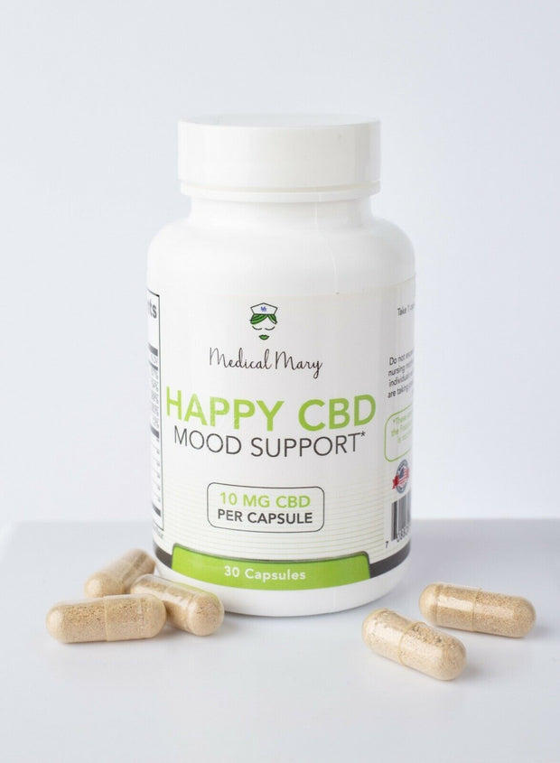 CBD Happy (Mood Support) 10mg/30 per bottle/ 300mg bottle