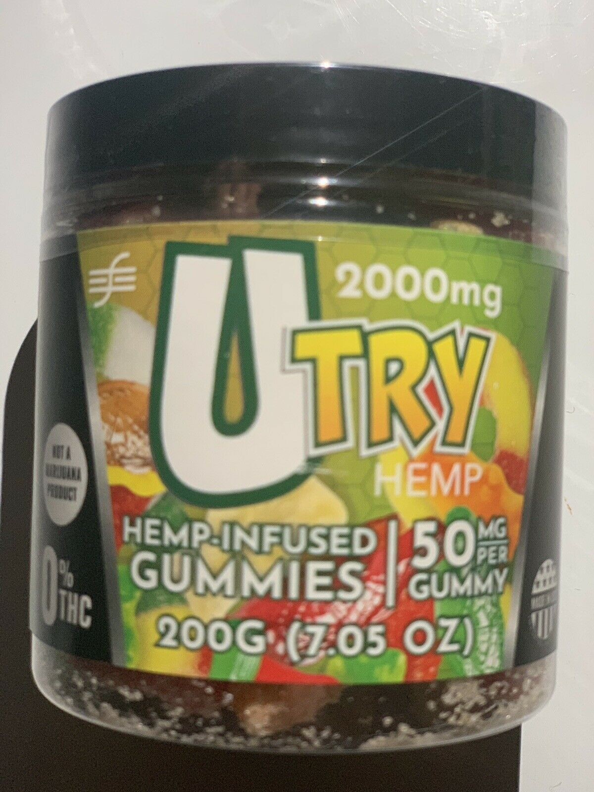 Hemp/CBD Gummies Variety 2000 mg Extra Strong. 20 pieces 50mg Each. 7.05oz Jar