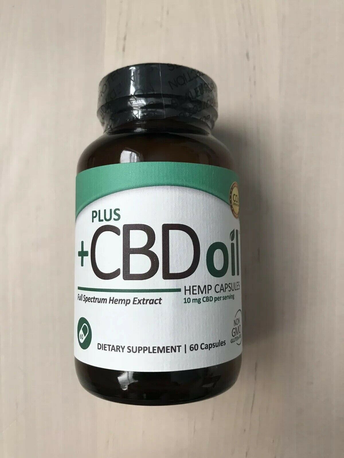Plus CBD/Hemp oil Capsules. 60x 10mg Capsules