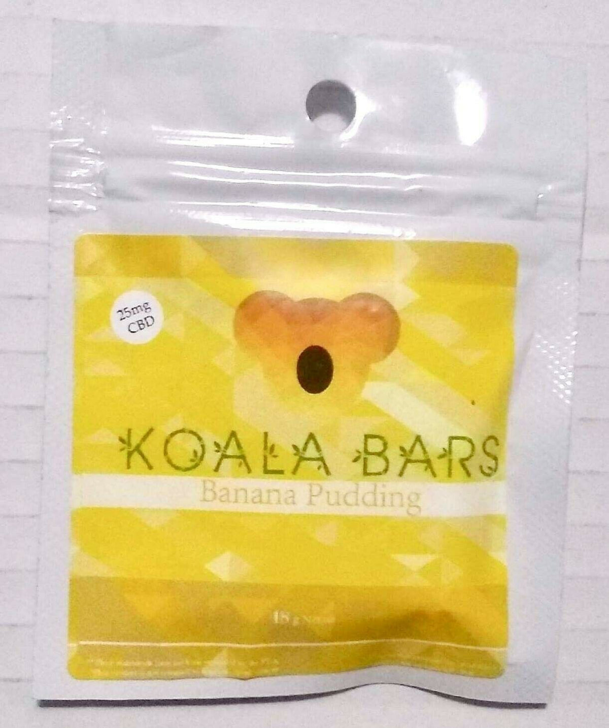 CBD/Hemp Gummies 🐨 Bar Banana Pudding 25mg