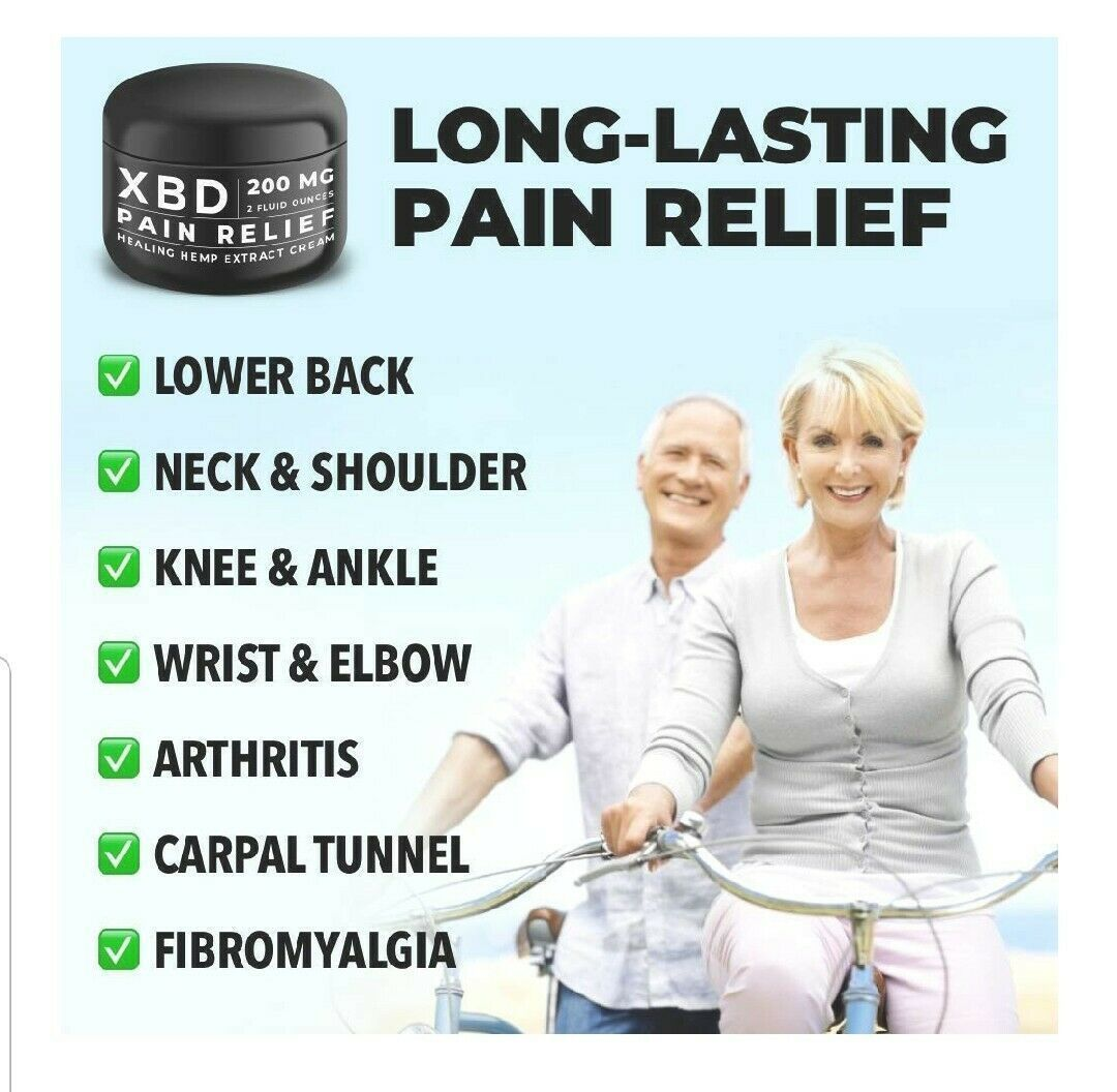 CBD Cream for Muscle & Joint Pain Relief - 200mg topical lotion - XBD hemp