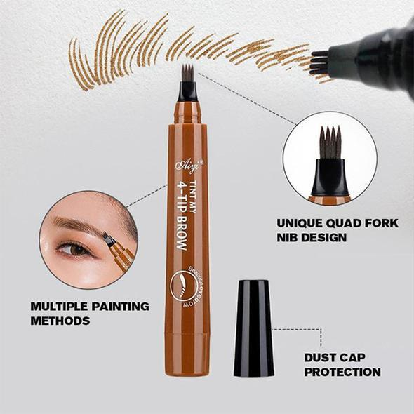 4 Point Waterproof Eyebrow Filling Pen (Buy 1 Get 1 Free)
