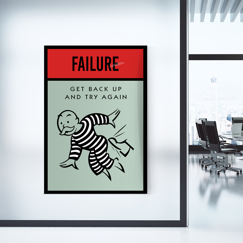 Failure Monopoly Office Home Wall Art Painting Canvas