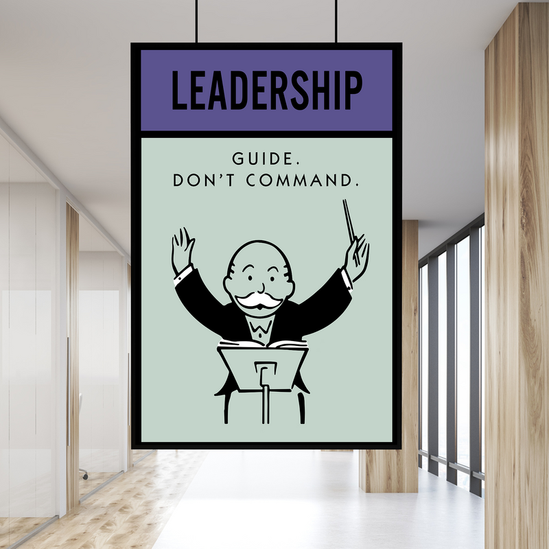 Leadership Monopoly Office Home Wall Art Painting Canvas