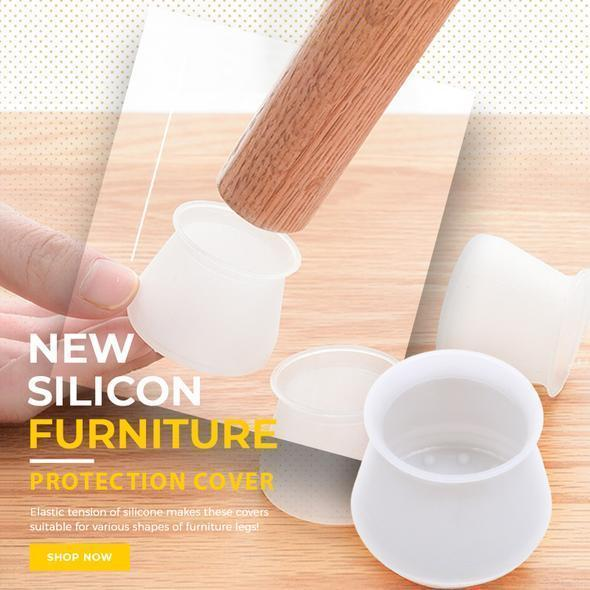 Furniture Silicon Protection Cover - Table Chair Leg Floor Feet Cap Cover Protector Feet Pads Non-slip Foot Protection Bottom Cover