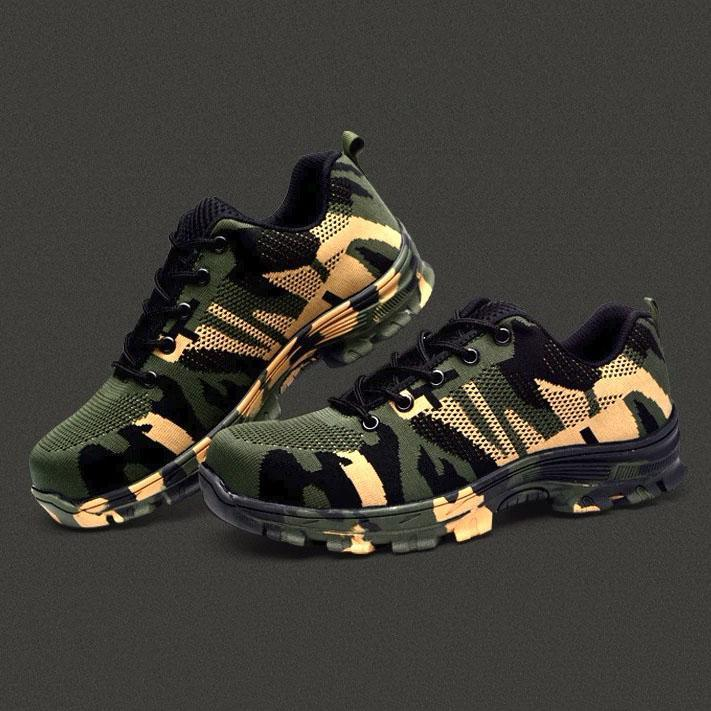 Indestructible Work Military Steel Battlefield Tactical Lightweight Safety Shoes for Men & Women