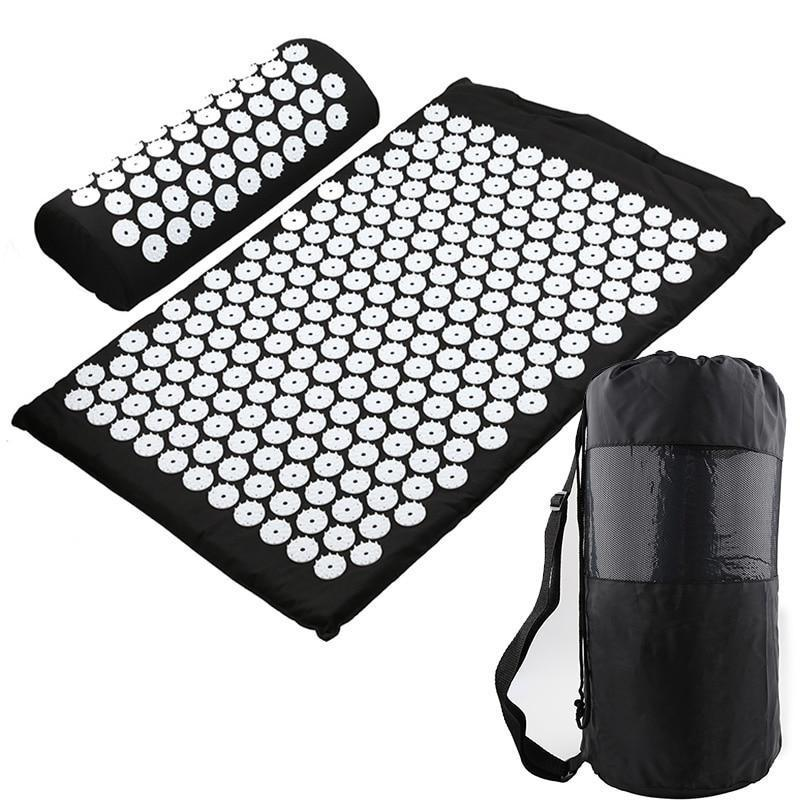 Acupressure Therapy Combo - Massager Cushion Massage Yoga Mat Relieve Stress Back Body Pain Spike