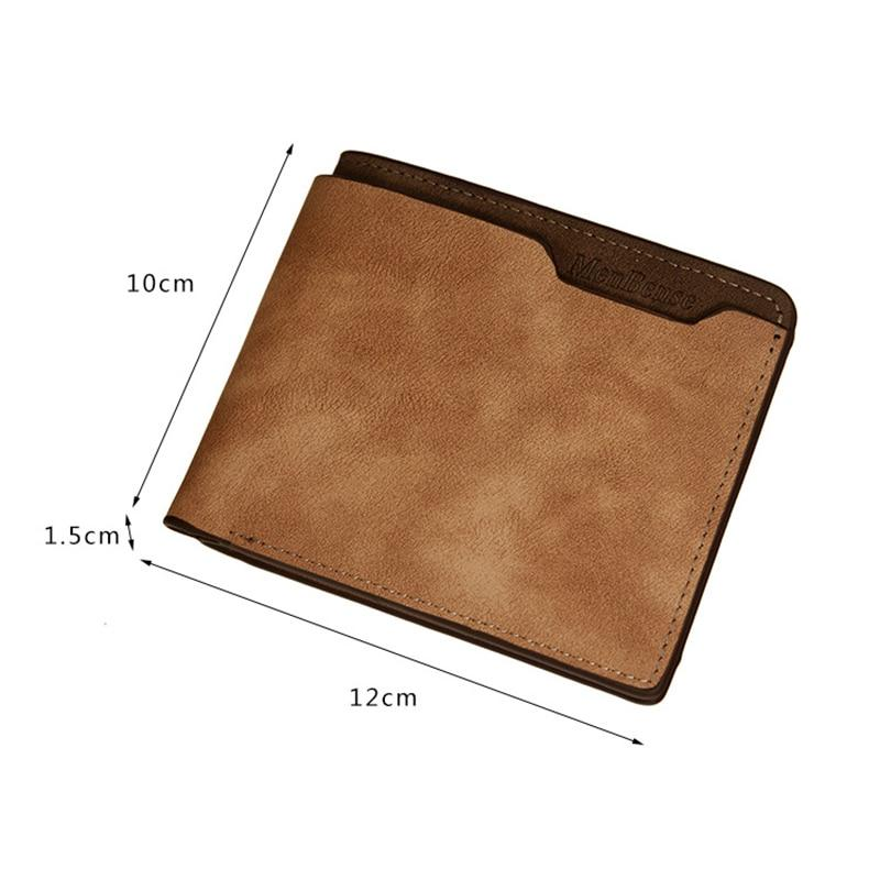 Men's Double Frosted Waterproof Short Multifunctional Engraved Wallet