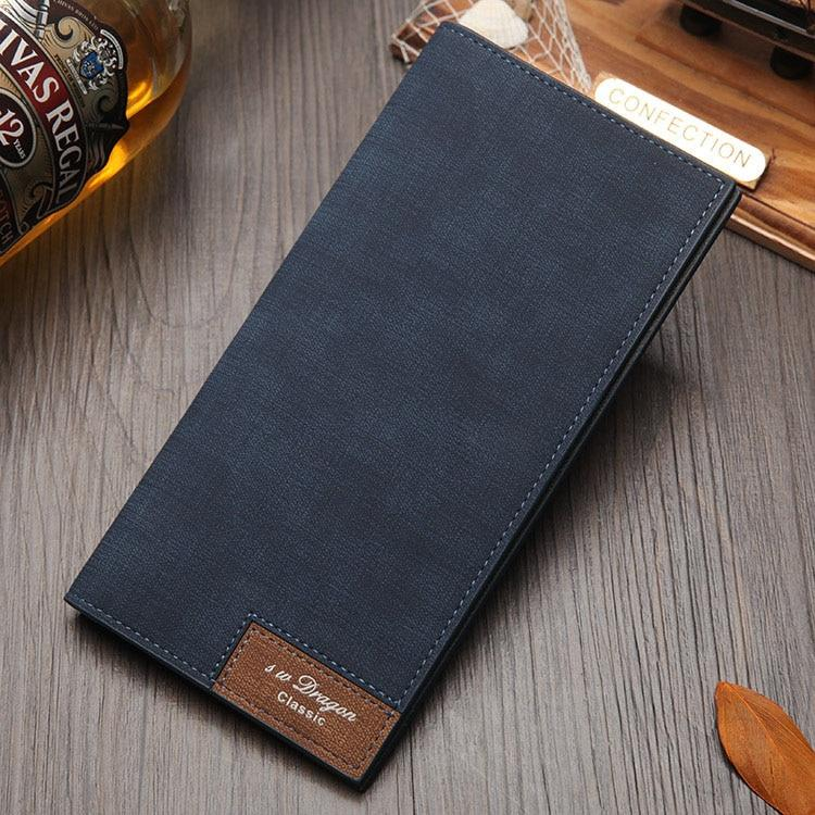 Long Style Bifold Thin Custom Inscription Photo Engraved PU Leather Wallet