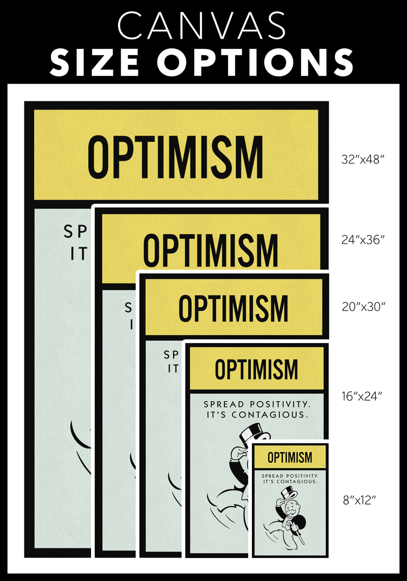 Optimism Monopoly Office Home Wall Art Painting Canvas