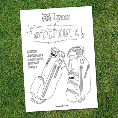 Attitude Bags Colouring Sheet (Free Download)-Lynx Golf UK