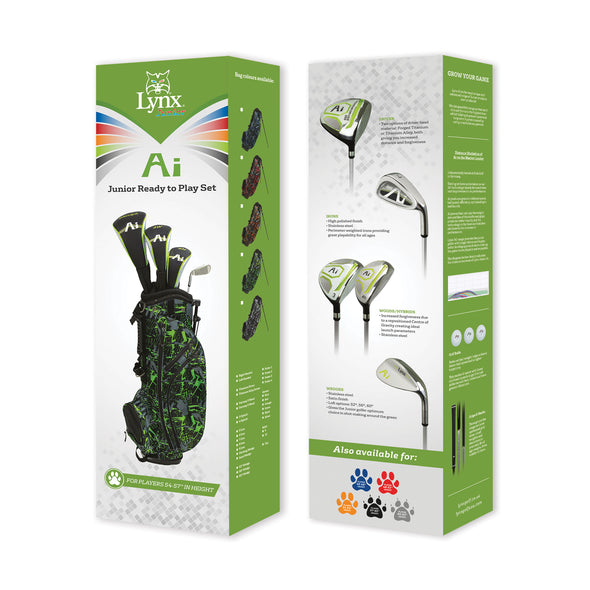 "Junior Ai Ready to Play Set 54-57"" (Right Handed) - Lynx Golf UK"