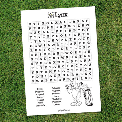 Word Search & Colouring Sheet (Free Download)-Lynx Golf UK