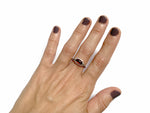 Granate Tactile ring, 6.5