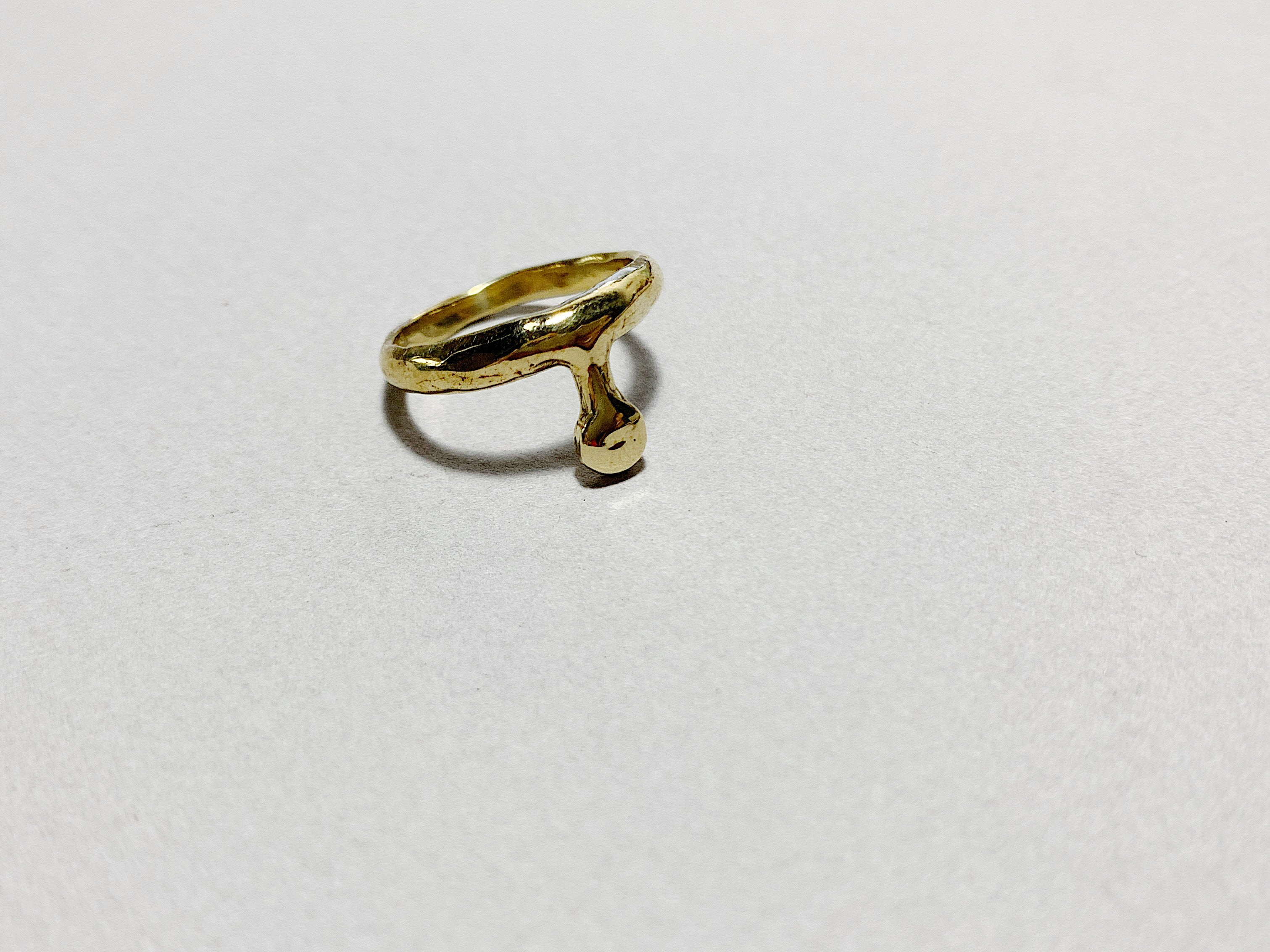 Punt ring- brass