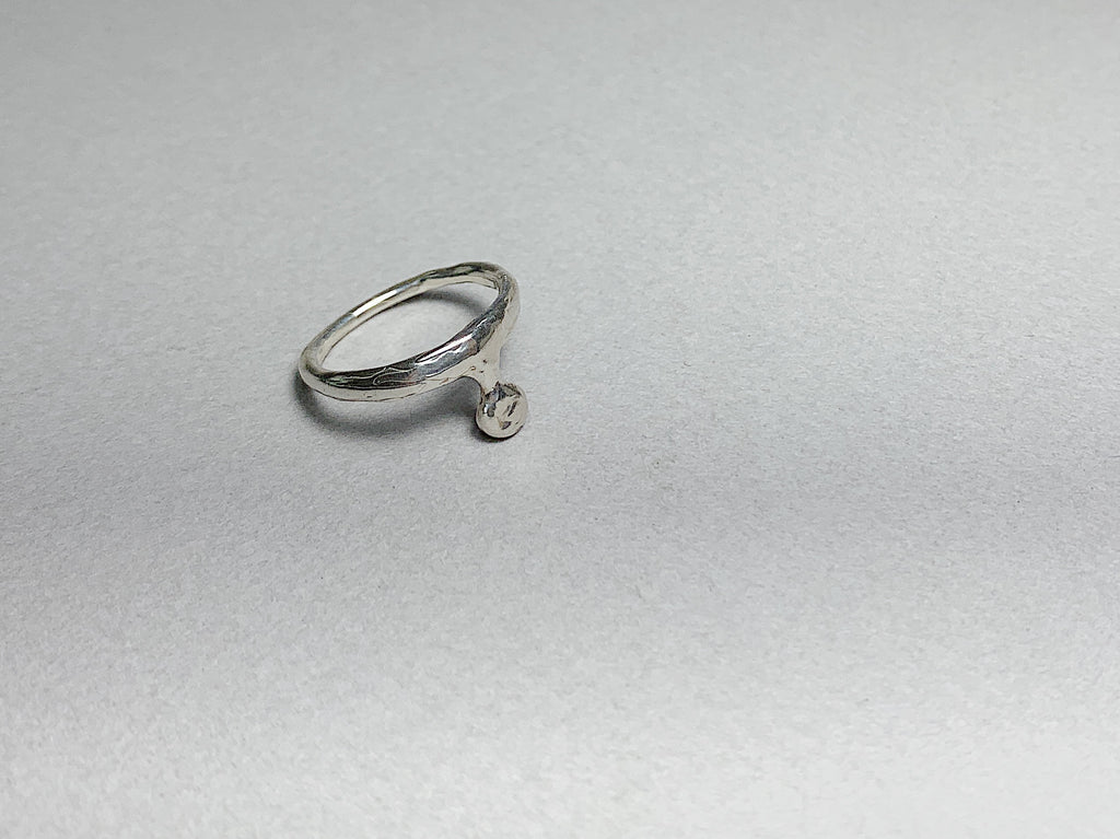 Punt ring- silver