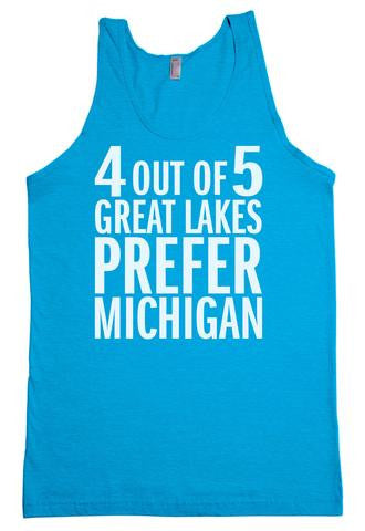 4 Out Of 5 Great Lakes Prefer Michigan Unisex Tank Top (CLOSEOUT)