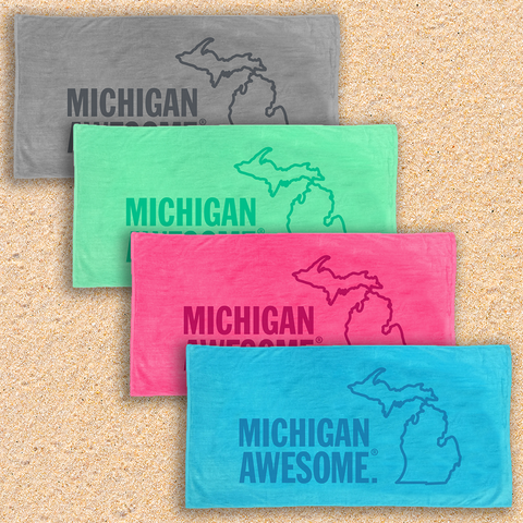Michigan Awesome Beach Towel