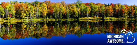 Colorful Fall Reflection Panoramic Print