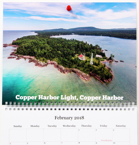 Michigan Lighthouses Calendar 2018