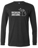 Michigan Awesome Long Sleeve T-Shirt