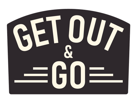 Get out and Go Text Die-Cut Sticker