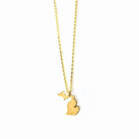 Gold Mini Michigan Necklace