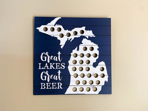 Great Lakes Great Beer Bottle Cap Map