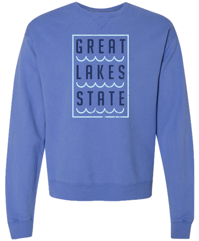Great Lakes State Crewneck Sweatshirt (CLOSEOUT)