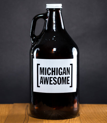 "Michigan Awesome ""Hand Crafted"" Growler"