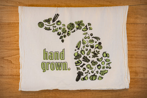 Hand Grown Tea Towel