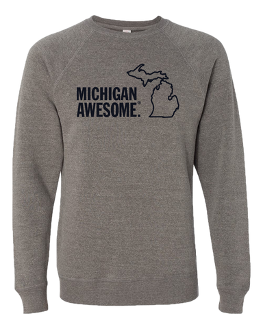 Michigan Awesome Crewneck Sweatshirt