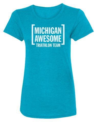Michigan Awesome Triathlon Team Women's Scoopneck T