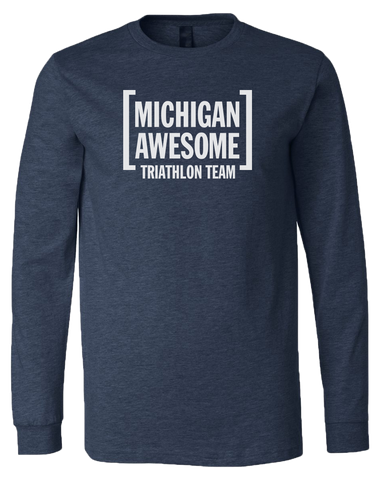 Michigan Awesome Triathlon Team Unisex Long Sleeve T-Shirt