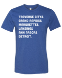 Michigan Cities Unisex T-Shirt